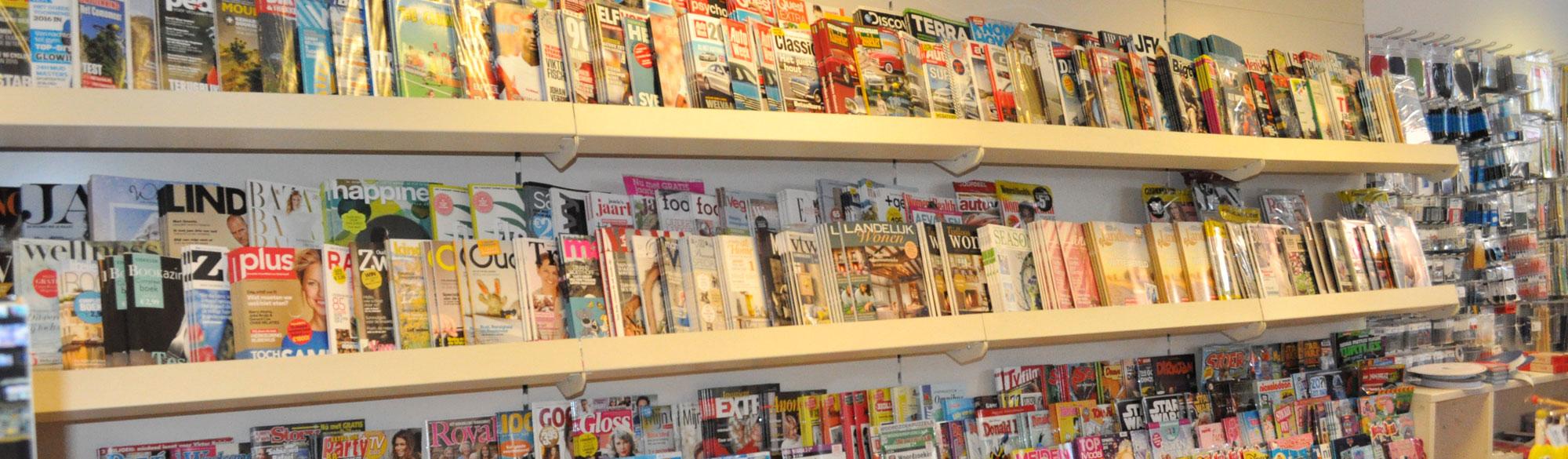 pand binnen boek en mix tijdschriften